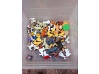 Box of children's dog and cat toys