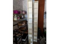 White IKEA Billy dvd storage