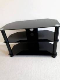 BLACK GLASS T.V.STAND