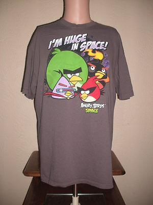 T-SHIRT - MEN'S X LARGE (XL) - ANGRY BIRDS SPACE - I'M HUGE IN SPACE!