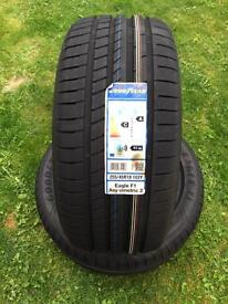 New 2 tyres 255/45/18 Goodyear