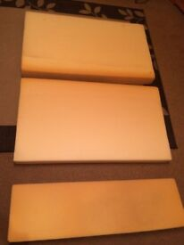 3 large pieces of upholstery foam ideal for campervan caravan day van seating conversion
