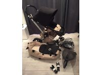 Bugaboo Cameleon 2 pushchair + carrycot+buggy board+rain cover+car seat adaptors