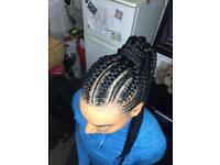 Afro/European Hairdresser (Box braids/Senegalese,KinkyTwists/CrotchetBraids/Cornrows)