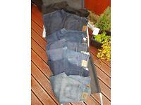 Mens 5 levi/ 3 Ted Baker jeans 34w 34leg bulk deal 8 Pairs !!!! GRADE A JOBLOT
