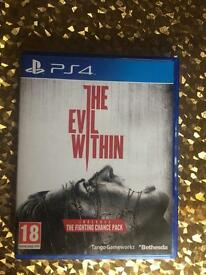 PS4 game. The Evil Within