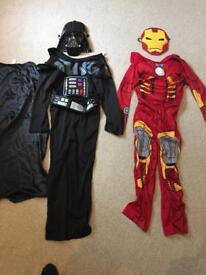 Kids Dressing Up Costumes Darth Vader/Ironman Aged 7-8 years