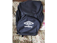 Genuine New with Tags Umbro Italia Backpack/Rucksack/Bag with Various Compartments in Black & White