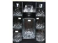 Decanter and Cristal Glasses - Royal Doulton