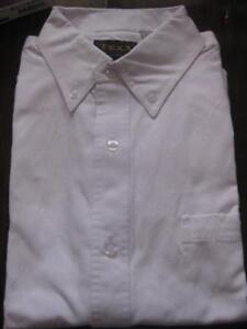 Texx MEN'S Long Sleeve Cotton Blend DRESS SHIRT. White. Chest Pocket. Button Down Collar. Medium / Large / XL. $10 each.