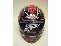 VIPER RS-220 REACTOR GLOSS BLACK/RED FULL FACE CRASH HELMET (474)