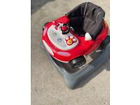 Mothercare Racing car baby Walker in new condition