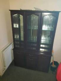 Glass & wooden cabinet