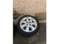 Set 4 alloy wheels for a vauxhall corsa