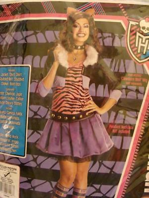 Monster High Clawdeen Wolf Adult Med Costume Med 10-14 RUBIES 880702 Unworn Sexy