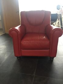 Leather chair ,red