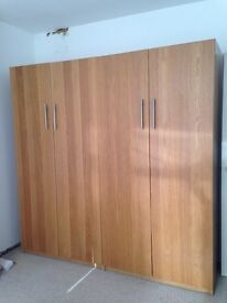 Pair of Ikea wardrobes
