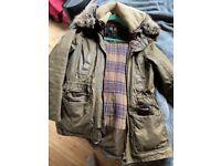 Ladies Barbour Green Wax Coat UK12