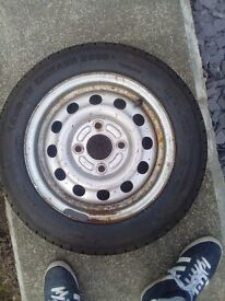 Ford wheel fitted with new tyre