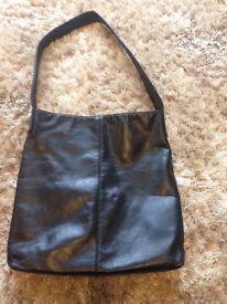 Ladies next black leather bag
