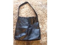 Ladies next black leather bag