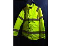 hi viz work jacket , yellow or orange various sizes. to 2xl