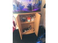 Fish Pod Glass Aquarium, 64 L full set up (can seperate if required)