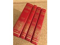 PURNELL RED LEATHER BOUND BOOKS COLLECTION OF ILLUSTRATED CLASSIC GOOD CONDITION