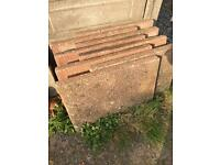 Red paving slabs x 8 - free to collector