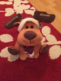 Chocolate Moose /Reindeer Christmas Decoration / Gift - NEW