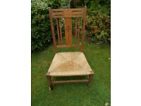 Antique arts & crafts nursing chair