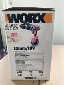 Work WX396.4 18V cordless hammer drill