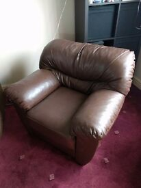 Single brown armchair for sale!
