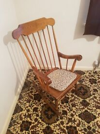 Two Wooden Rocking Chairs - Excellent Condition