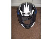 HJC Motorcycle Helmet - Blue, Grey, Black and White Size XL
