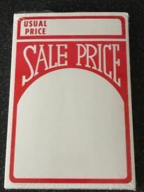Sale Price Cards