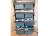 Filing Cupboard Cabinet - Gesika 4 Tier Pull Out Swing Files