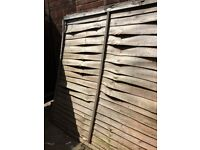Wooden Garden Lap Fence Panels 6ft x2