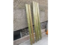 half round fence posts and top rails