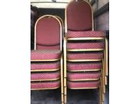 Red & Gold Stackable Banquet Chairs x 60