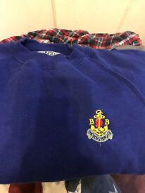 Boys brigade blue jumper size 32