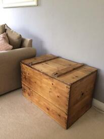Antique pine blanket box