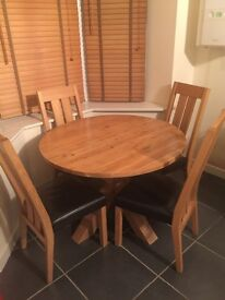 Next dining table and 4 chairs. Rrp £600