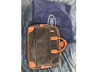 Brics Italian leather life long attaché briefcase