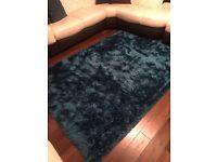 Dunelm Indulgence Turquoise Shaggy Rug (perfect condition)