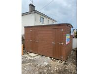 8ft x 12ft Newly Constructed Site Hut/Garden Shed