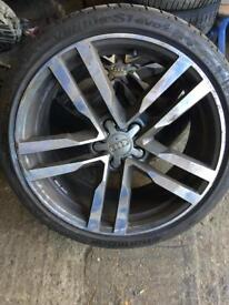 Audi TT mk3 alloy wheels set x4 with tyres 19 inch sline call for any info