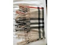 Burberry style scarf