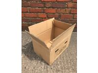 10 Cardboard Removal Storage Cartons Boxes Used Once