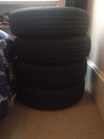 Almost new, set of 4 tyres